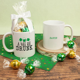 Personalized St. Patrick's Day A Wee Bit Drunk 11oz Mug with Lindt Truffles