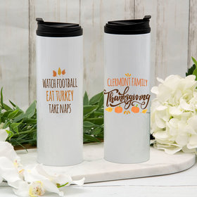 Personalized Family Thanksgiving Stainless Steel Thermal Tumbler (16oz)