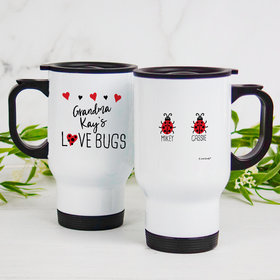 Personalized Travel Mug (14oz) - Two Love Bugs