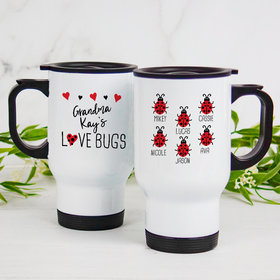 Personalized Travel Mug (14oz) - Six Love Bugs