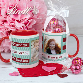 Personalized Our Valentine 11oz Mug with Lindor Truffles by Lindt