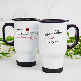 Personalized Travel Mug (14oz) - It All Began