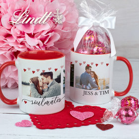 Personalized Soulmates 11oz Mug with Lindor Truffles by Lindt