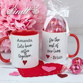 Personalized Let's Have Coffee Together 11oz Mug with Lindor Truffles by Lindt