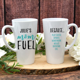 Personalized 17oz White Latte Mug - Mom Fuel