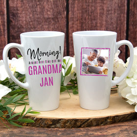 Personalized 17oz White Latte Mug - They Call Me Grandma