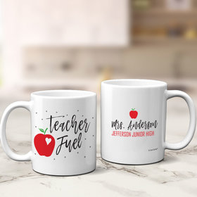 Personalized Teacher Fuel 11oz Mug Empty