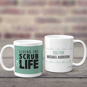 Personalized Scrub Life 11oz Mug Empty