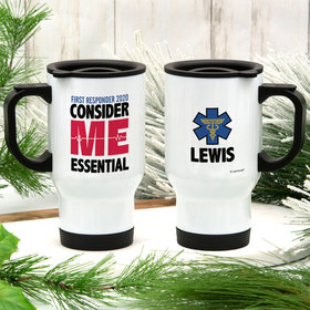 Personalized First Responder Stainless Steel Travel Mug (14oz)