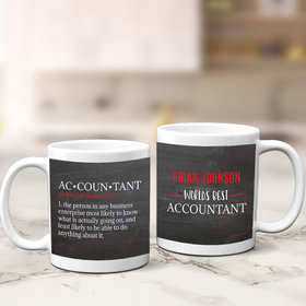 Personalized World's Best Accountant 11oz Mug Empty