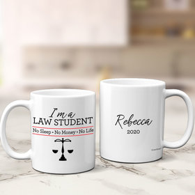 Personalized Law Student 11oz Mug Empty