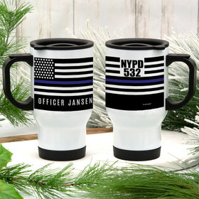 Personalized Police Stainless Steel Travel Mug (14oz)