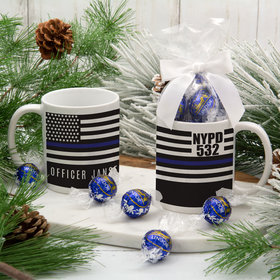 Personalized Police 11oz Mug with Lindt Truffles