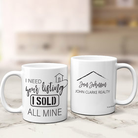 Personalized Realtor 11oz Mug Empty