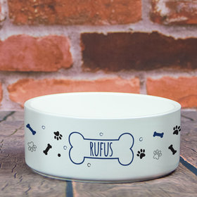 Personalized Pet Bowl - Large Dog Name Icon
