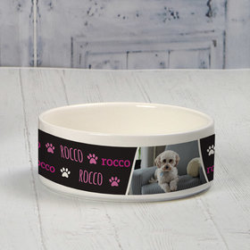 Personalized Pet Bowl - Small Pink Pet Photo