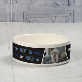 Personalized Pet Bowl - Small Blue Pet Photo
