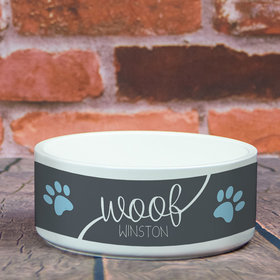 Personalized Pet Bowl - Large Woof