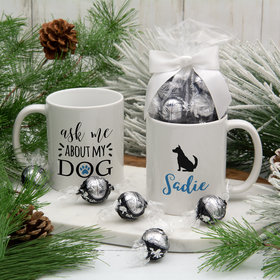 Personalized About My Dog (German Shepard) 11oz Mug with Lindt Truffles
