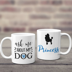 Personalized About My Dog (Poodle) 11oz Mug Empty