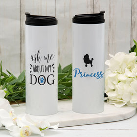 Personalized About My Dog - Poodle Stainless Steel Thermal Tumbler (16oz)