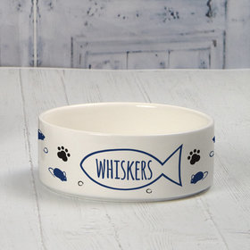 Personalized Pet Bowl - Small Cat Name Icon
