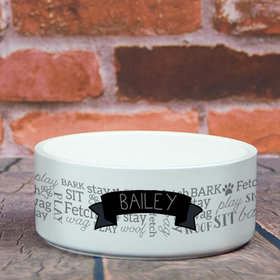 Personalized Pet Bowl - Large Dog Words