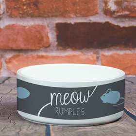 Personalized Pet Bowl - Large Meow