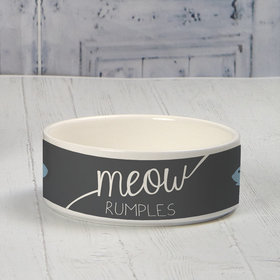 Personalized Pet Bowl - Small Meow