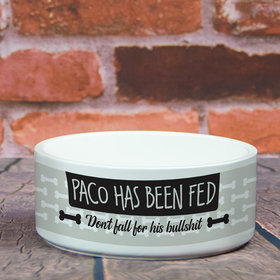 Personalized Pet Bowl - Large Has Been Fed