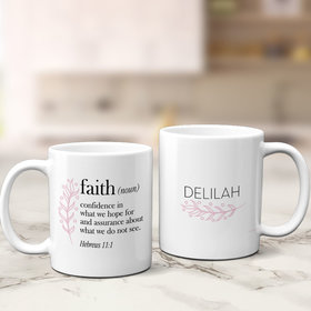 Personalized Faith Definition 11oz Mug Empty