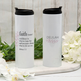 Personalized Faith Definition Stainless Steel Thermal Tumbler (16oz)
