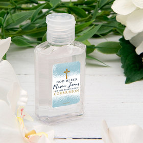 Personalized Communion 2 fl. Oz Hand Sanitizer - Watercolor God Bless