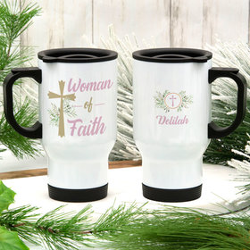 Personalized Woman of Faith Stainless Steel Travel Mug (14oz)