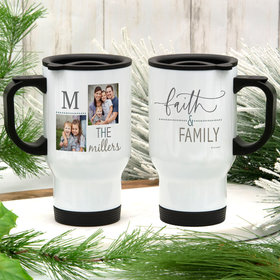 Personalized Travel Mug Grandparent Gifts (14oz) - Faith and Family