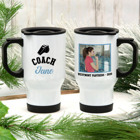 Personalized Travel Mug (14oz) - Coach Whistle with Photo