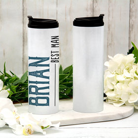 Personalized 16oz Stainless Steel Thermal Tumbler- Best Man