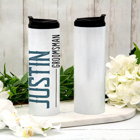 Personalized 16oz Stainless Steel Thermal Tumbler- Groomsman