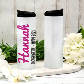 Personalized 16oz Stainless Steel Thermal Tumbler- Name Script