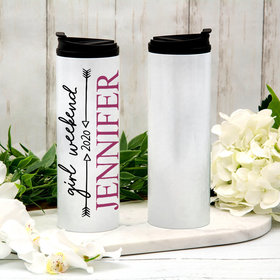 Personalized 16oz Stainless Steel Thermal Tumbler- Arrows