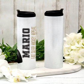 Personalized 16oz Stainless Steel Thermal Tumbler- Hockey