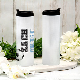 Personalized 16oz Stainless Steel Thermal Tumbler- Soccer