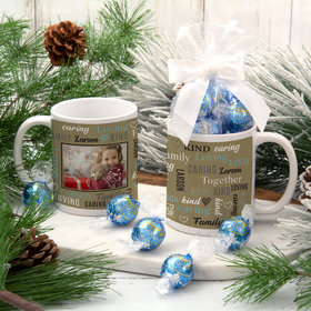 Personalized Word Cloud Family 11oz Mug with Lindt Truffles
