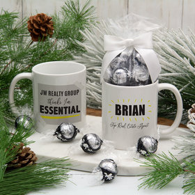 Personalized Company Thinks I'm Essential 11oz Mug with Lindt Truffles
