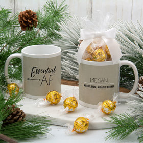 Personalized Essential AF 11oz Mug with Lindt Truffles