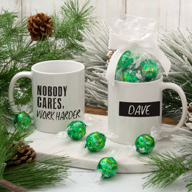 Personalized Nobody Cares Work Harder 11oz Mug with Lindt Truffles