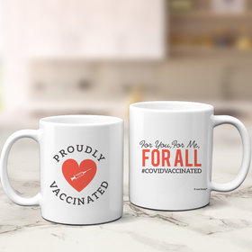 Personalized Proudly Vaccinated 11oz Mug Empty