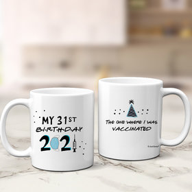 Personalized Vaccinated Birthday 11oz Mug Empty