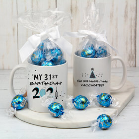 Personalized Vaccinated Birthday 11oz Mug with Lindt Truffles