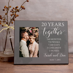 Personalized Picture Frame Wedding Anniversary List